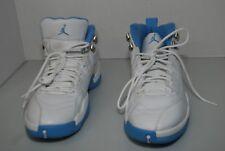 air jordan 12 retro size 11 white/university blue-met silver 2004