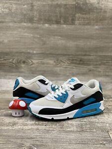 Nike Air Max 90 Laser Blue OG Neutral Gray Black White Size 8.5 325018-108
