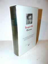 Tocqueville: Opere vol. I  Oeuvres 1991 La Pleiade con ex libris