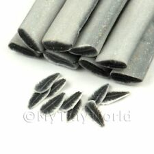 3x Handmade Black And White Feather Canes - Nail Art (11nc71)