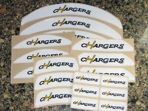 SAN DIEGO CHARGERS Vintage Bumper Football Helmet Decal Set Qty (1) Set 3M 20MIL