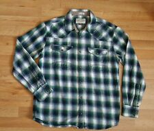 Cody James Men's Pearl Snap Plaid 100% Cotton Flannel Western Shirt Size S