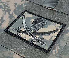 USMC FORCE RECON TALL GRASS SNIPER DIGITAL hook/loop PIRATE CALICO JACK SKULL