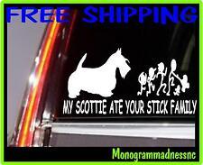 MY SCOTTIE ATE YOUR STICK FAMILY VINYL DECAL STICKER CAR TRUCK