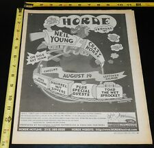 Horde Festival 1997 NEIL YOUNG Bosstones Ween Squirrel Zippers NJ Concert Ad