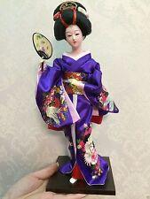Oriental Japanese Brocade Kimono Kabuki Geisha Doll Figure Figurine Beautiful