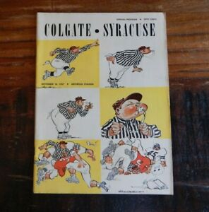 1953 SYRACUSE ORANGEMEN VS COLGATE COLLEGE FOOTBALL PROGRAM HIGH GRADE NICE