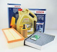 BOSCH Filterpaket AUDI SKODA SEAT mit 5L Castrol Edge 5W30 LL Longlife