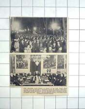 1936 Spanish Elections, Huge Crowd Marches Down Rambla Barcelona