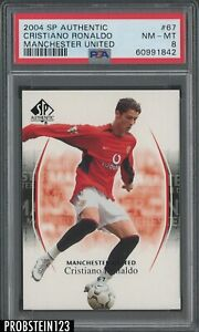 2004 SP Authentic Soccer #67 Cristiano Ronaldo Manchester United PSA 8 NM-MT