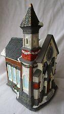 Fine Porcelain Christmas Church-Hand Painted