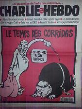 CHARLIE HEBDO - LE TEMPS DES CORRIDAS - GIORNALE ANNO 1996
