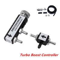 Car 1-30PSI Adjustable Manual Turbo Boost Controller Bleed Valve Universal Black