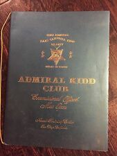 Vintage Restaurant MENU ADMIRAL KID CLUB, Naval Training Center, San Diego, CA