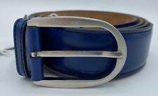 Salvatore Ferragamo Men's Blue Leather Belt Size US 38 Made in Italy