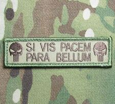 SI VIS PACEM PARA BELLUM PUNISHER USA ARMY MULTICAM VELCRO® BRAND FASTENER PATCH