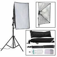150W Photography Studio Soft Box Continuous Light Softbox Lighting Stand Kit