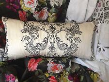 """Designers Guild / Christian Lacroix tissu taleguilla PASTIS noir soie back 25x12 """""""