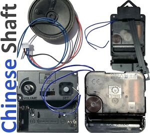 Chime Quartz movement clock kit set or parts, top spec, all shaft lengths, UK