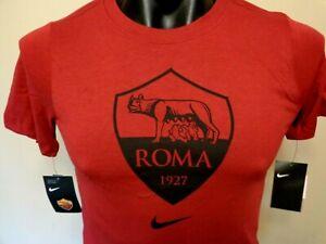 NIKE AS ROMA 19/20 ROMA LOGO FAN T SHIRT BOYS LARGE BRAND NEW