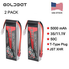 2X 3S 5000mAh 50C 11.1V Deans Plug LiPo Battery for RC Car Helicopter Truck Boat