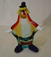 MURANO ITALY BLOWN GLASS CLOWN CANDY BOWL