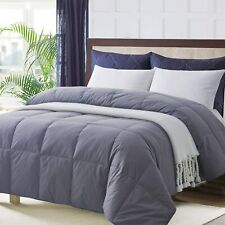 Ubauba All-Season Twin Down Comforter 100% Cotton Quilted Feather Comforter with