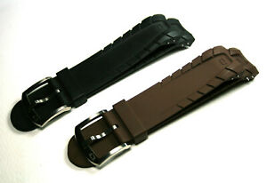 N.O.A,  SCYLLIS 4.80 SERIES, VULCANISED RUBBER STRAP / BAND, BLACK AND BROWN