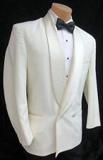 41XL Mens Ivory Double Breasted Tuxedo Jacket Wedding Mason Cruise *Made in USA*