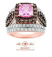 Brandy Diamondorables® Chocolate Brown Pretty in Pink Passion Ring 9 Ct.