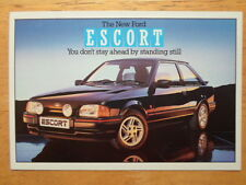 FORD Escort XR3i 1986 UK Mkt Factory Postcard - unused - brochure related