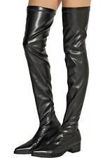 Stella McCartney OVERKNEE Negro Botas de alto del muslo UK7 EU40 RRP660GBP