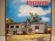Vollmer H0 5722 Bauwagen, 2 Stück Bausatz Neu + OVP