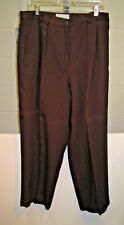 Ladies Saks 5th Ave. Folio Collection Dark Brown Slacks     Size 18,