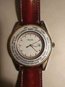OROLOGIO BULOVA TIMEMASTER GMT WORLDTIME QUARTZ