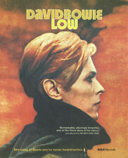 DAVID BOWIE LOW PRESS ADVERT LAMINATED A4 MINI POSTER REPRO