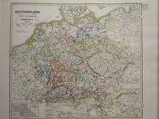 1846 SPRUNER ANTIQUE HISTORICAL MAP GERMANY RUDOLF VON HABSBURG MAXIMILIAN 1273