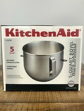 KitchenAid K5ASBP 5-Quart Professional Stainless Steel Mixing Bowl with Handle