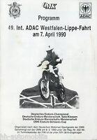 Programm 49. Int. ADAC Westfalen-Lippe-Fahrt 7.4.90 1990 Deutsche Enduro Meister