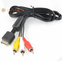 SONY PLAYSTATION PS1, PS2 & PS3 RCA AUDIO/VIDEO TV CABLE 1.8M - BRAND NEW UK