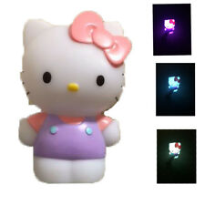 2 X Hello Kitty Colour Changing Mood Light Night Light Rainbow Effect