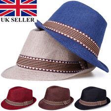 Boys Girls Kids Children Top Fedora Trilby Hat Sunhat Gangster Cap Jazz Dance UK