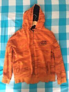 Troy Lee Designs TLD Mens Medium Camo Orange Camouflage Long Sleeve Hoodie