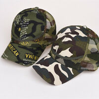Adjustable Children Boy Girl Camouflage Baseball Hat Camo Snapback-Cap.aua Z2U1