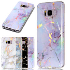 For Samsung Galaxy S7 S8 S9 S10 S20 Marble Shockproof Silicone Phone Case Cover