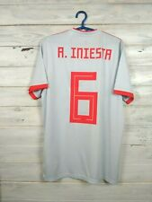 Iniesta Spain Jersey 2019 Away M Shirt Adidas Football Soccer BR2697