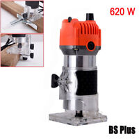 Electric Hand Trimmer Wood Laminate Palm Router Joiners Tool Variable Speed 620W
