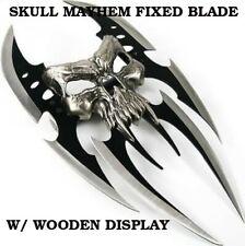 """13"""" Skull Mayhem Death Stalker Fantasy Cast Metal Claw W/ Bar Handle + Display"""