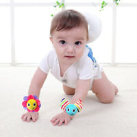 GT- KF_ Cute Animal Infant Baby Kids Hand Wrist Bell Foot Sock Rattles Soft Toy