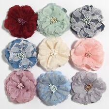 """30pcs 5.5CM 2.1"""" Fabric Artificial Lace Flower For Hair Accessories Bouquet"""